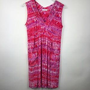 Calvin Klein Summer Dress Tie Dyed V-neck